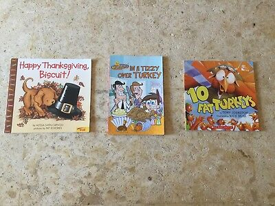 Lot of 3 Children's Thanksgiving Fall Autumn paperback picture books