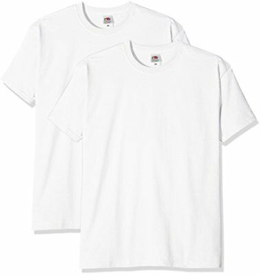 Bianco X-Large FRUIT OF THE LOOM SUPER PREMIUM T T-SHIRT UOMO (WHITE) XL Nuovo