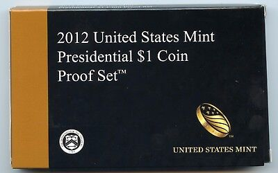 2012 US Mint Presidential $1 Coin Proof 4-coin Set  - Mint Box & COA - Free Ship