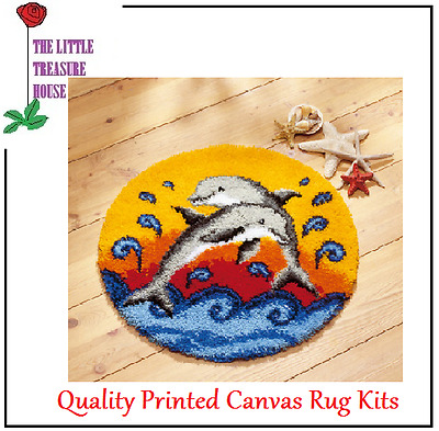 Dolphin Latch Hook Rug Kit - Rug Making - Everything included