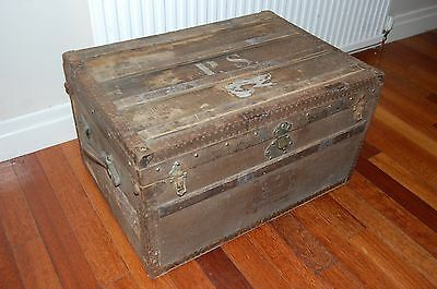 antique trunk approx 1900 - 1930 germany C.E Ruegsegger