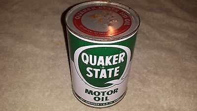 Quaker State Metal Quart Oil Can Full 1965 SAE 20-20W