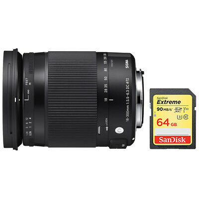 Sigma 18-300mm F3.5-6.3 DC Macro OS HSM Lens (Contemporary) for Nikon DX Cameras