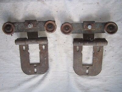 """2 BARN SHED 7 3/4"""" x 8 1/2"""" DOOR TROLLEY TRACK ROLLERS"""