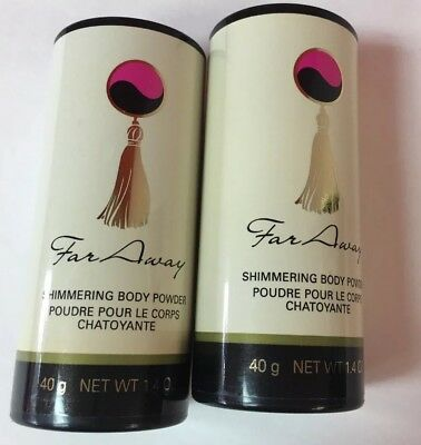 AVON Shimmering Body Powder - Far Away - Lot of 2