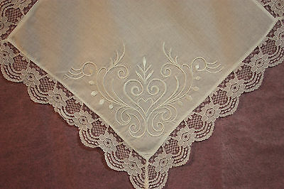 Cotton lace embroidered Hankerchief for ladies.