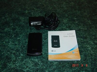 LG CU515 Flip Mobile Phone AT&T 3G (NO SIM CARD Included) Working Condition.