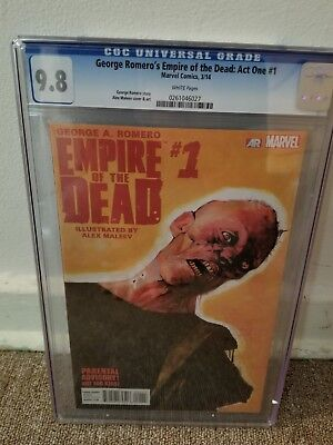 George A Romero's Empire of the Dead Act One #1 First Print CGC 9.8 Low Print!!