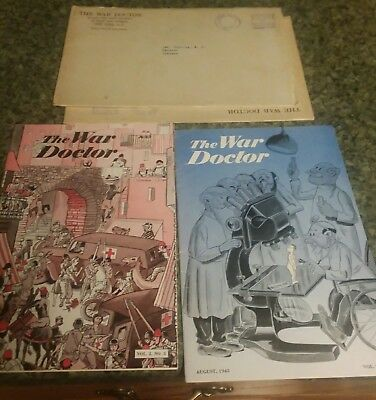 Original Lot Of 2  Ww2 Medic Pamphlet W/ Sleeves  (The War Doctor )