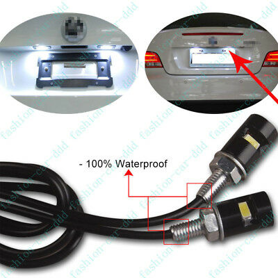 For Motorcycle/Car License Plate Screw Bolt Light lamp Bulb 12V White LED SMD