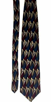 "Cocktail Collection Men's 100% Silk Abstract Neck Tie Red 3 7/8"" x 56"""