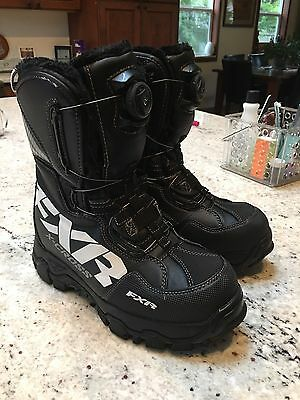 FXR Racing Black X Cross Boa Boots Size 9 Like New Seriously