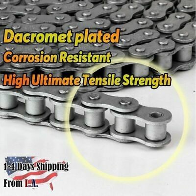 #12B DR Dacromet Roller Chain 10 Feet with 1 Connecting Link Corrosion Resistant