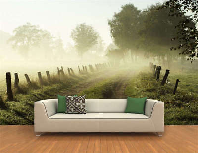 Misty Morning Road Full Wall Mural Photo Wallpaper Printing 3D Decor Kids Home