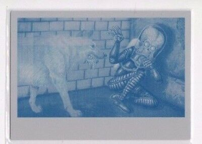 2017 Mars Attacks Revenge printing plate 44 Cornered by Dogs