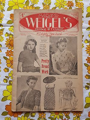 MADAME WEIGEL'S JOURNAL OF FASHION March 1, 1944 vintage pattern magazine