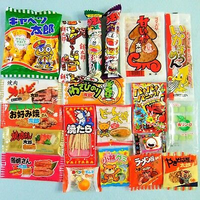 20 Pieces Japanese Candy Set Dagashi Japanese Snack Japanese Food Made in Japan