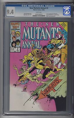 New Mutants Annual #2 CGC 9.4 NM 1st US Appearance of Psylocke Marvel Comics 86