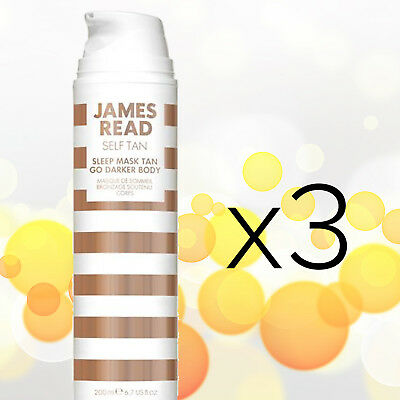 3x James Read Sleep Mask Tan Go Darker Body (6.7oz / 200mL) - NEW & UNOPENED