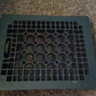 Vintage Cast Iron Floor Grate With Damper