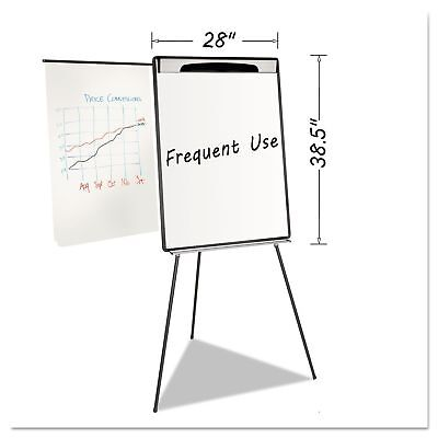 MasterVision EA23062119 Magnetic Gold Ultra Dry Erase Tripod Easel W Ext Arms