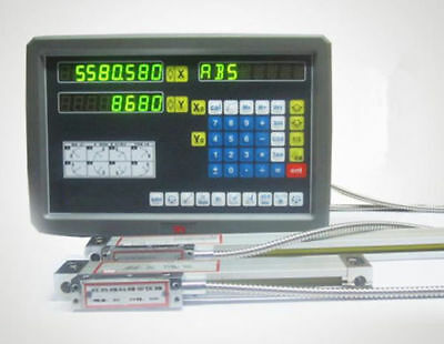 CE 2 Axis digital readout for milling lathe machine with precision linear scaleU