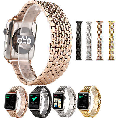 Fit Apple Watch iWatch Band 42mm 38mm Newly Stainless Steel Wrist Bracelet Clasp