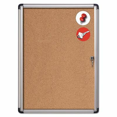 MasterVision VT630101690 Slim-Line Enclosed Cork Bulletin Board  28 x 38