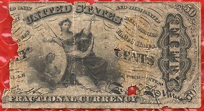 Fr 1358 - 50 Cents - Third Issue Fraction Currency - Justice Note - Rough