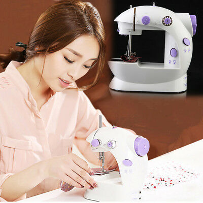 New Electric Mini Multifunction Portable Desktop Home Sewing Machine with Light