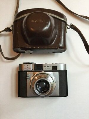 Argus V-100 V100 Camera Synchro-Compur Cintar II Lens 52mm F2.8 Leather Case
