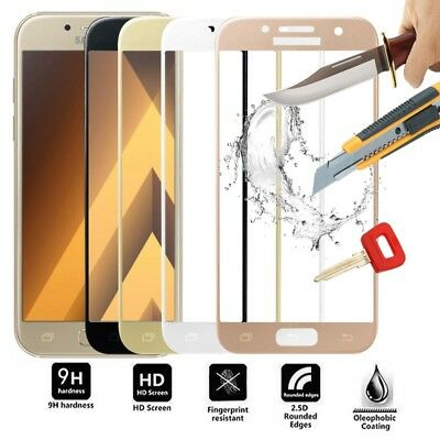 F Samsung Galaxy A3 A5 A7 /J3 J5 J7 16/2017 Full Cover Tempered Glass Protector