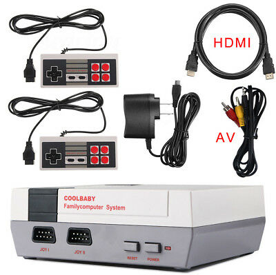 Classic TV Video Game 2 Controllers Console Retro Built-in 600 Game For NES Mini