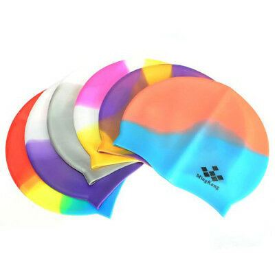 Mingkang Swimming Cap swimming pool swim silicone swim cap for woman man E3A3