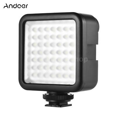 Studio LED Camera Video Light Lamp Dimmable for Canon Sport Action Camera Y7O6