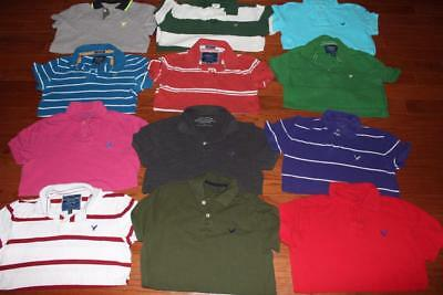 Lot Of 12 American Eagle Adult Mens Polo Shirts All Small Athletic Vintage Fit