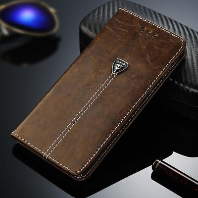 Luxury Magnetic Leather Case Flip Card Holder Wallet Cover For Samsung/iPhone T