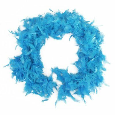 2m Feather Boas Fluffy Craft Costume Dressup Wedding Home Decor Light Blue M2M9