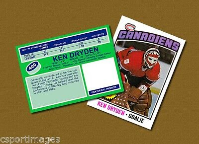 Ken Dryden - Montreal Canadiens - Custom Hockey Card  - 1975-76
