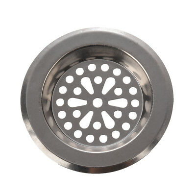 New 77mm x 55mm x 45mm Silver Tone Stainless Steel Kitchen Sink Strainers L6E1