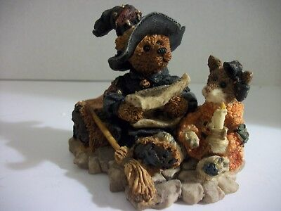 "1995 BOYDS BEARS HALLOWEEN FIGURINE ""Emma... the Witchy Bear"" RETIRED EC"