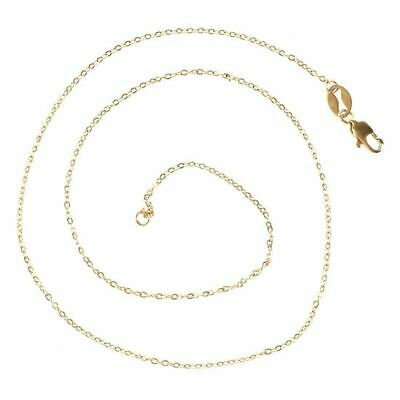 1pcs Fashion 18K Gold Filled Necklaces Chains Pendants Length:16inches  X5L3