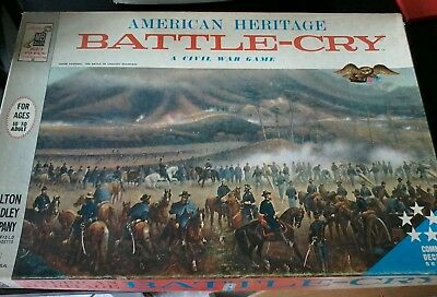 MB American heritage,  boardgame, Brettspiel, battle Cry