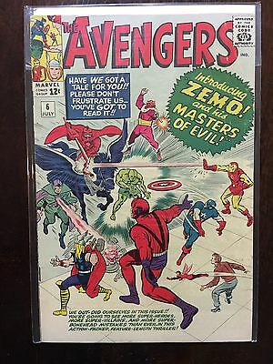 Avengers #6  - 1st Appearance Baron Zemo Plus The Masters Of Evil