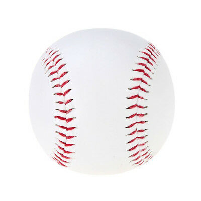 "Baseball Balls 9"" Handmade PVC Outer Rubber Inside Soft for Exercise White O9V1"