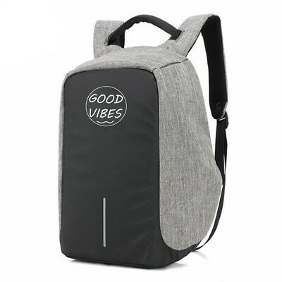 Good Vibes Backpack Anti Theft USB Port Waterproof Travel School Bag