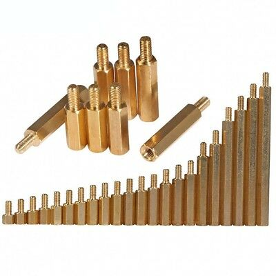 M4 Hexagon Brass Spacer Screw Standoff Riser Female-Male Screws M4*6+6-M4*60+6