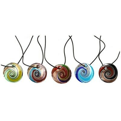 5 PCS Necklace Pendant Chain Glass Pendant Fashion Jewelry  PK