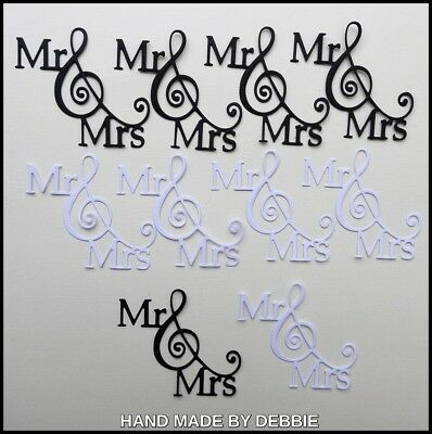 Wedding Die Cuts X 10,card Making,embellishments,album,marriage,bride,groom,
