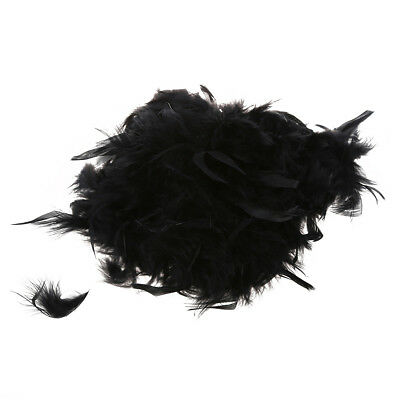 Feather of Boa Black Fluffy Decoration Craft 6.6 Feet Long PK